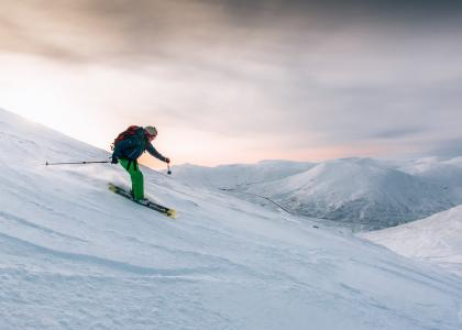 Image of skier at Glenshee in Aberdeenshire