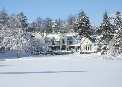 Douneside House Winter